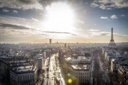 Levé de soleil sur Paris