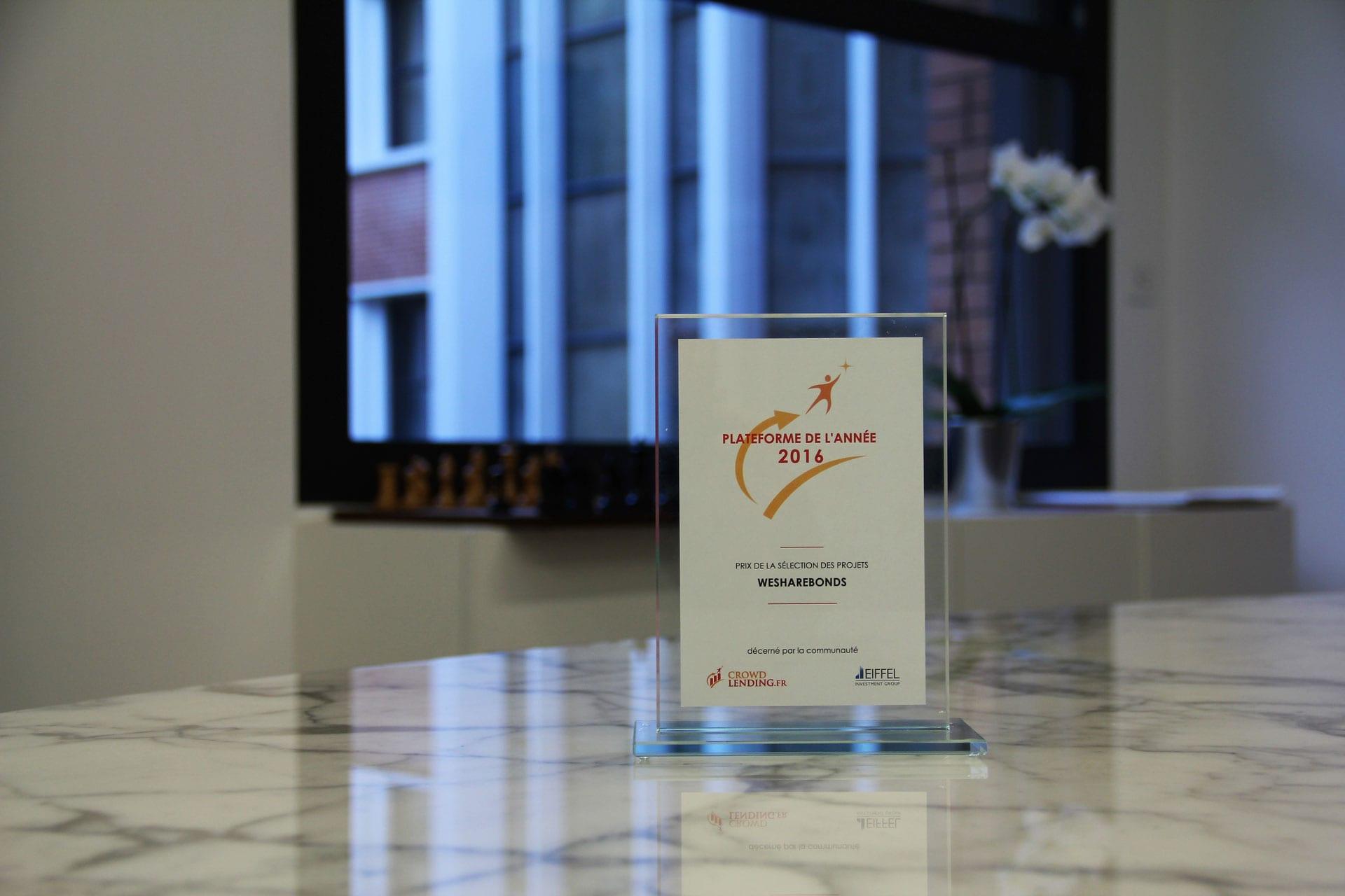 WeShareBonds prix plateforme année 2016