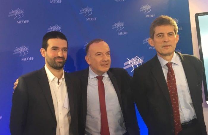 Damien Beurier Directeur Général – Business Development WeShareBonds - Pierre Gattaz, président du Medef - Jean-Claude Cothenet Président de Metalliance