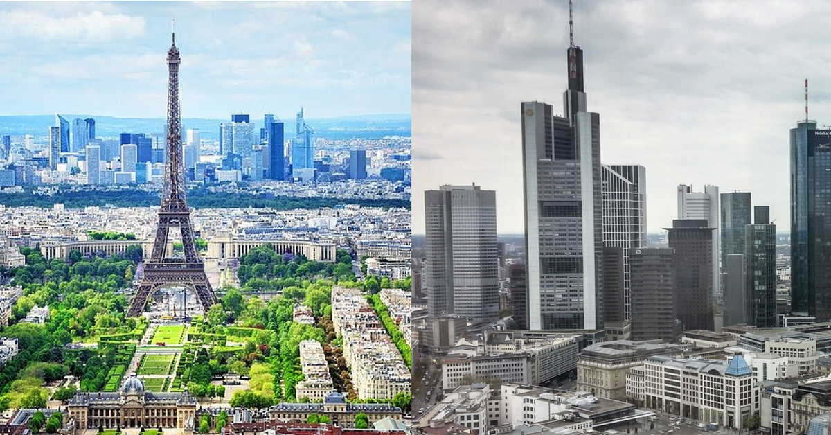 paris, francfort, Paris vs Francfort