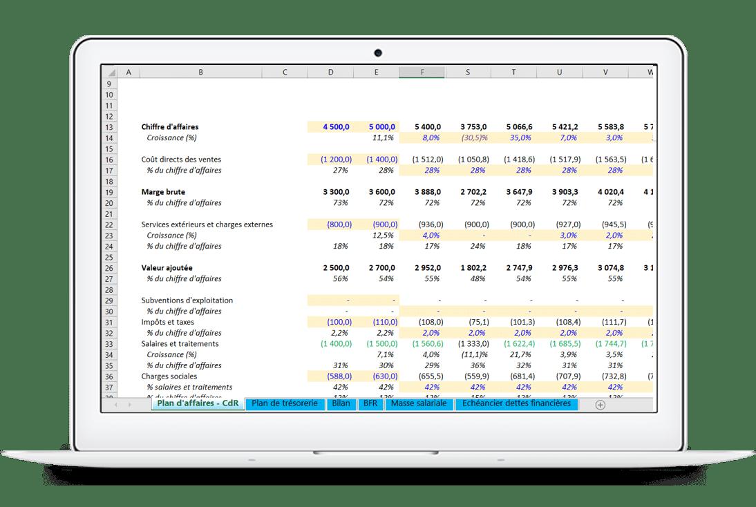 Business plan Excel, calculer l'impact du coronavirus
